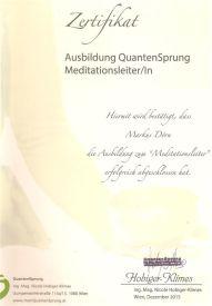 Zertifikat Mediationsleiter
