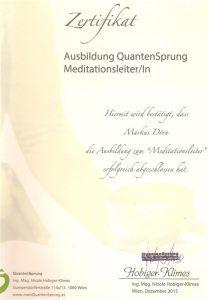 Zertifikat Meditationsleiter